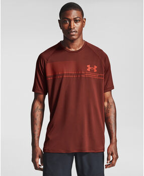Under Armour Logo Wordmark Tech t-shirt Heren Rood