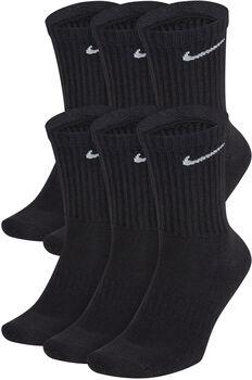 Nike Everyday Cushion Crew sokken (6 paar) Heren Zwart