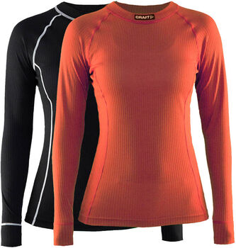 Craft Active 2 Pack Long Sleeve shirt Dames Zwart