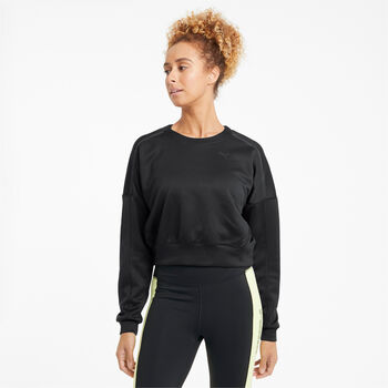 Puma Train Zip sweater Dames Zwart
