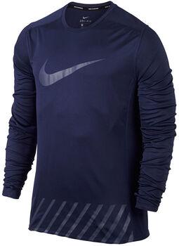 Nike Dry Miler Running longleeve Heren Blauw
