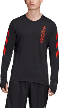 adidas Fast Graphic shirt Heren Zwart