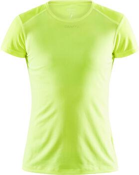 Craft ADV Essence SS Slim Tee W shirt Dames Geel