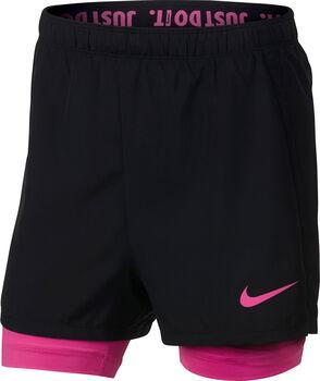Nike Dry 2-in-1 short Meisjes Zwart