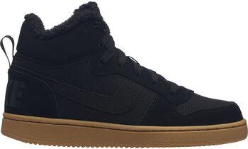 Nike Court Borough Mid Winter sneakers Zwart