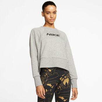 Nike Dri-FIT Get Fit Fleece sweater Dames Grijs