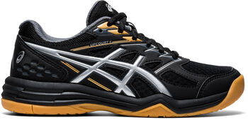 Asics Upcourt 4 GS indoorschoenen kids Jongens Zwart
