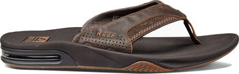 Reef Leather Fanning slippers Heren Bruin