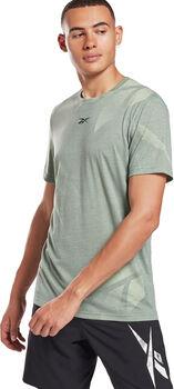 Reebok Workout Ready Allover Print T-shirt Heren Groen