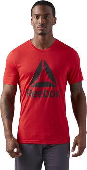 Reebok Workout Ready Supremium 2.0 Big Logo shirt Heren Rood