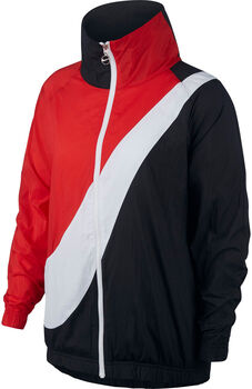 Nike Women's Woven Swoosh Jacket Dames Zwart