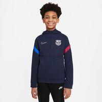 FC Barcelona Dri-FIT Fleece 1/2-Zip kids hoodie 21/22