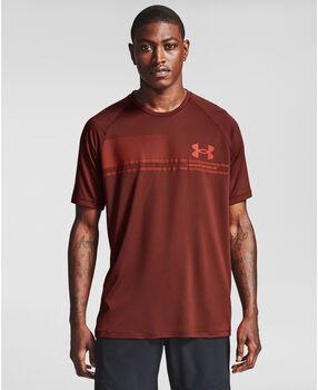 Under Armour Logo Wordmark Tech t-shirt Heren Rood