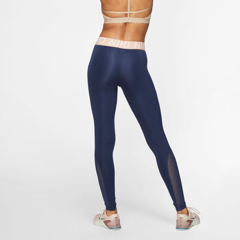 Nike Pro New tight Dames Blauw