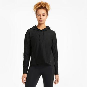 Puma Train Flawless Po hoodie  Dames Zwart