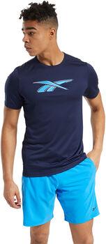 Reebok Workout Ready Graphic t-shirt Heren Blauw