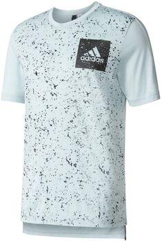 Adidas Side Allover Print shirt Heren Groen
