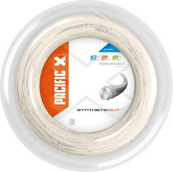 Pacific Synthetic Gut 200M - 1.25 mm tennissnaar Wit