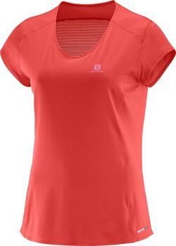 Salomon comet plus ss tee Dames Oranje