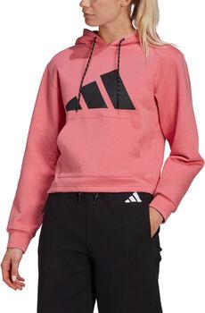 adidas Sportswear Relaxed Doubleknit Hoodie Dames Roze
