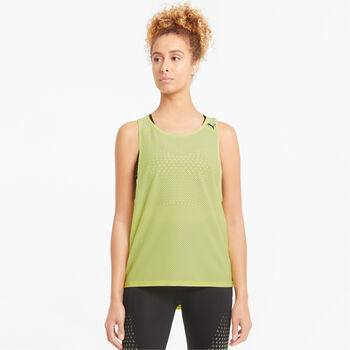 Puma Train Mesh top Dames Geel