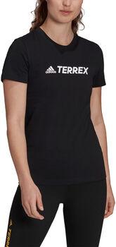 adidas Terrex Classic Logo T-shirt Dames Zwart