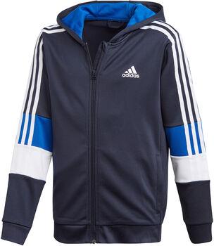 adidas Must Haves AEROREADY 3-Stripes Full-Zip kids hoodie  Jongens Blauw