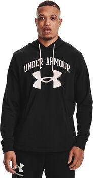 Under Armour Rival Terry Big Logo hoodie Heren Zwart