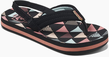 Reef Little Ahi slippers Meisjes Zwart