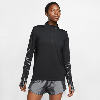 Nike Element Flash longsleeve Dames Zwart
