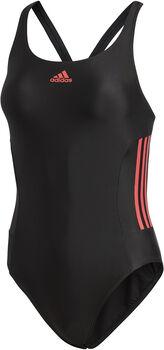 ADIDAS Essence Core 3-Stripes Badpak Dames Zwart