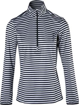 Brunotti Rodia-Stripe fleece Dames Zwart