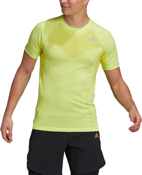 adidas Primeknit T-shirt Heren Geel