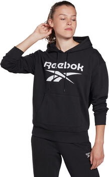 Reebok Identity Logo French Terry Hoodie Dames Zwart