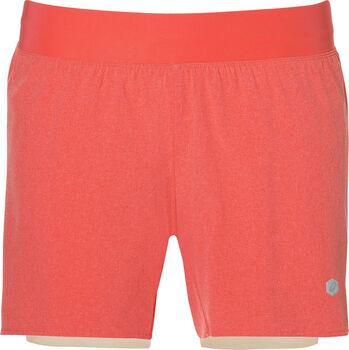 Asics 2-n-1 5.5in short Dames Oranje