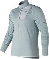 New Balance Heat Half Zip shirt Heren Off white