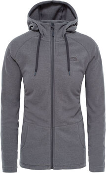 The North Face Mezzaluna Full Zip hoodie Dames Grijs