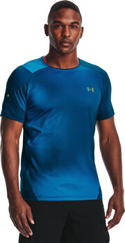 Under Armour HeatGear Rush 2.0 Print t-shirt Heren Blauw