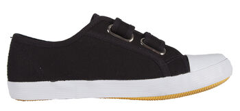 Stanno Canvas Gym Shoe Velcro Jongens Zwart