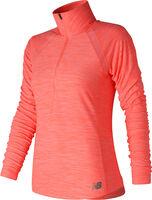 New Balance Anticipate Half Zip shirt Dames Roze