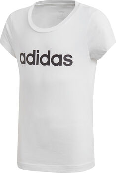 adidas Essentials Linear kids shirt  Meisjes Wit