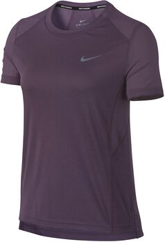 Nike Miler Short-Sleeve shirt Dames Paars