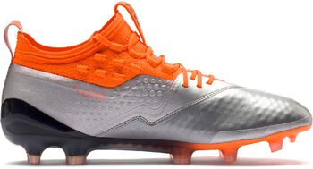 Puma One Leather FG/AG voetbalschoenen Grijs