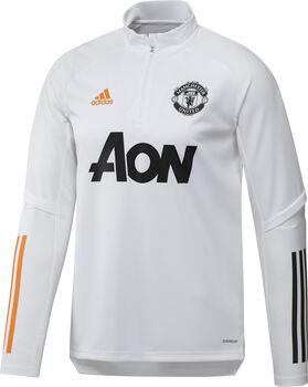 adidas Manchester United trainingsshirt 20/21 Heren Wit