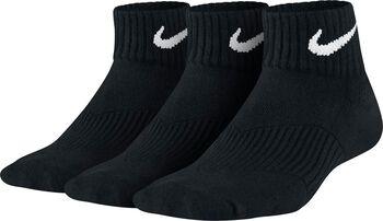 Nike Cotton Cushion Quarter 3-pack sokken - kids Jongens Zwart