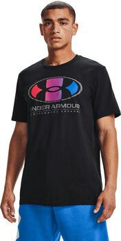 Under Armour Multicolor Lockertag shirt Heren Zwart