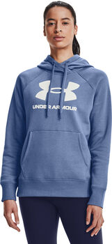 Under Armour Rival Fleece Logo hoodie Dames Blauw