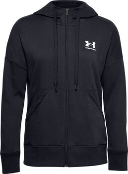Under Armour Rival Fleece Full Zip hoodie Dames Zwart