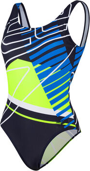 Speedo Placement U-Back badpak Dames Blauw