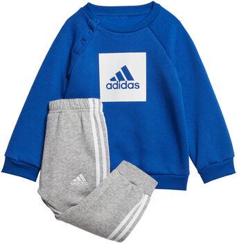 adidas 3-Stripes Fleece Joggingpak Meisjes Blauw